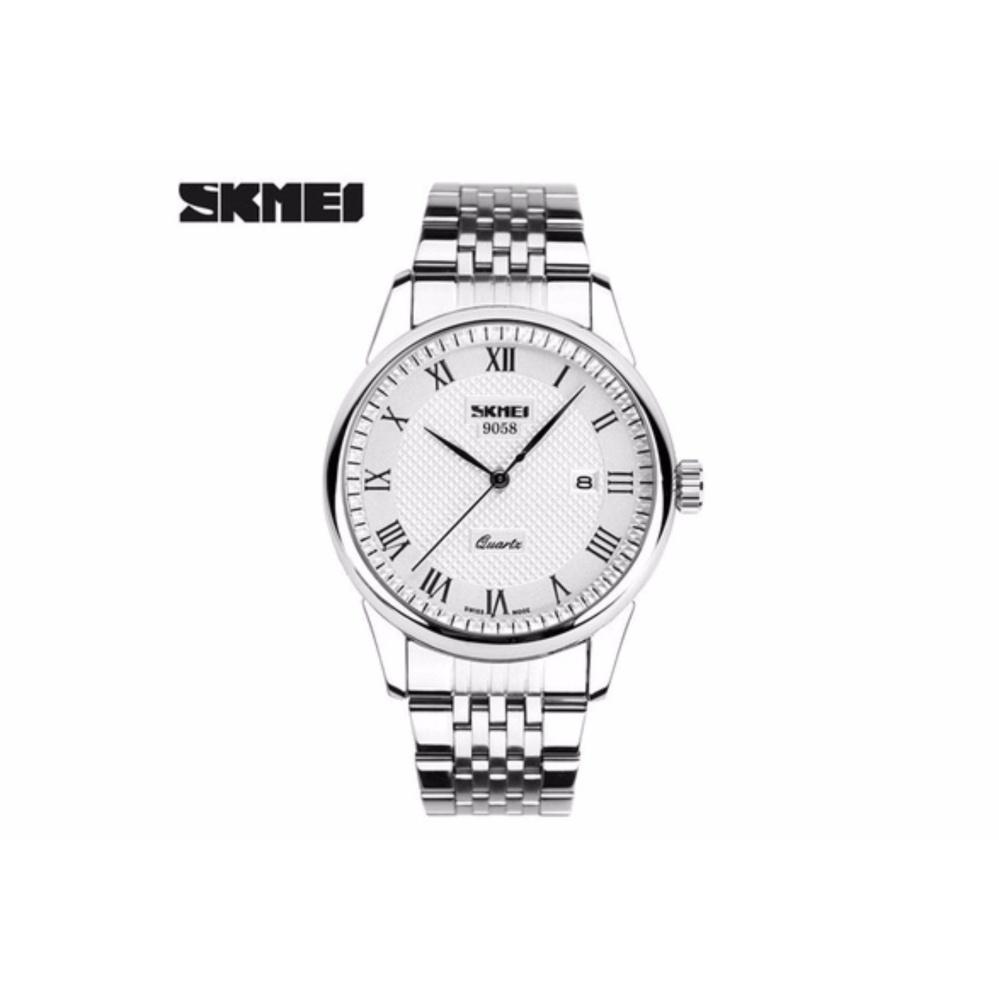Đồng hồ nam Skmei 9058 dây inox chống nước
