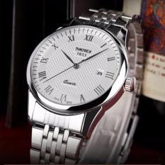 Đồng hồ nam Skmei 9058 mặt trắng dây thép cực men