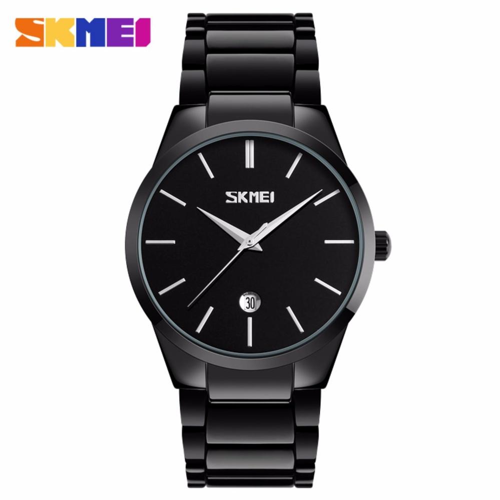 Giá bán Đồng hồ nam Skmei 9140 mặt đen cực men