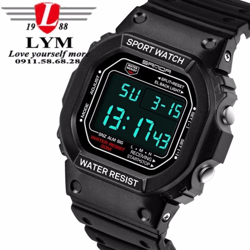 Đồng hồ nam thể thao không thấm nước SANDA SF329S (đen)