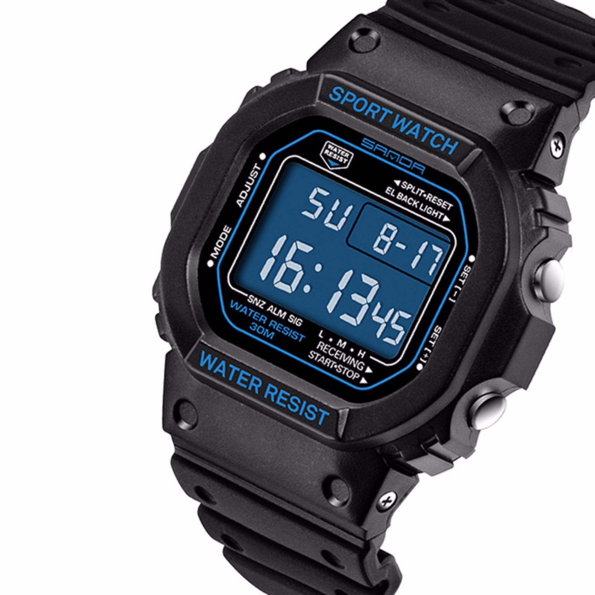Đồng hồ nam thể thao SANDA SKYSTORE329 không thấm nước dây nhựa dẻo cao cấp