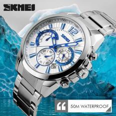 Đồng hồ nam thời trang chống nước Skmei 9108 ( Trắng ) SK 06