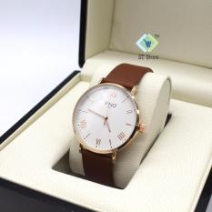 Đồng hồ nam thương hiệu SINO 8369 dây da, mặt số la mã sang trọng
