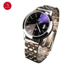 Đồng hồ nam YAZOLE 296 có lịch ngày cao cấp 41mm (Đen) + Tặng hộp đựng đồng hồ thời trang & Pin