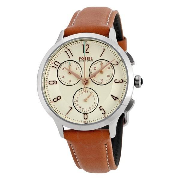 Đồng hồ nữ cao cấp dây da Fossil CH3014 (Trắng) – Phân phối chính hãng