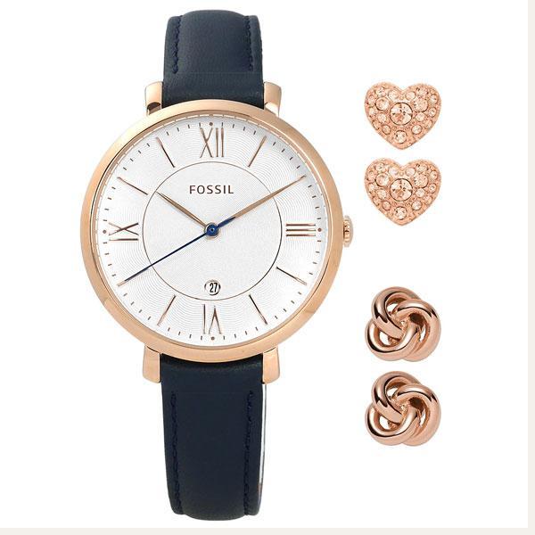 Đồng hồ nữ cao cấp dây da Fossil ES4140SET (Trắng) – Phân phối chính hãng