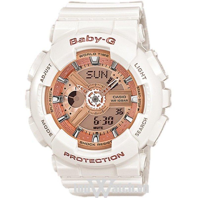 Nơi bán Đồng hồ nữ dây cao su Casio BA-110-7A1DR(Mặt Hồng)