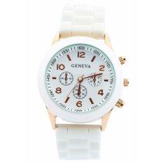 Đồng hồ nữ dây cao su GENEVA C0013 (Trắng)