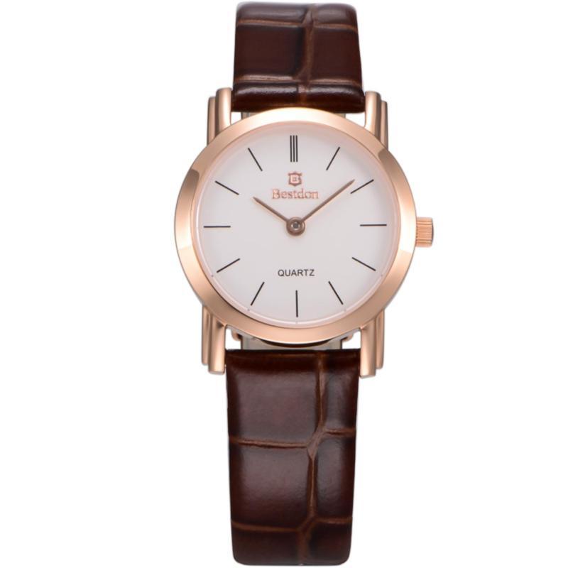 Nơi bán Đồng hồ nữ dây da Bestdon BD9923L(Vàng vạch)