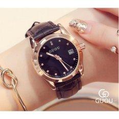 Đồng hồ nữ dây da cao cấp Guou 8076