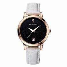 Giá bán Đồng hồ nữ dây da cao cấp SANDA JAPAN MOVT – dây trắng, tặng kèm vòng tay xin xắn