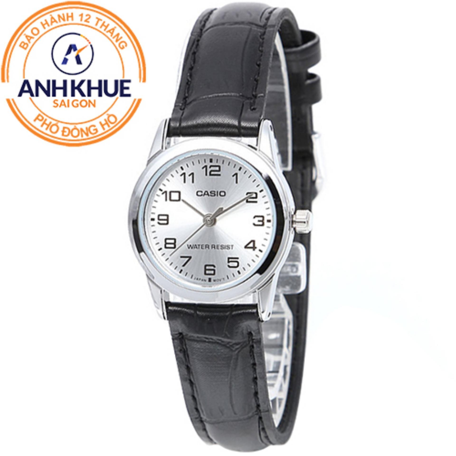 Đồng hồ nữ dây da Casio Anh Khuê LTP-V001L-7BUDF