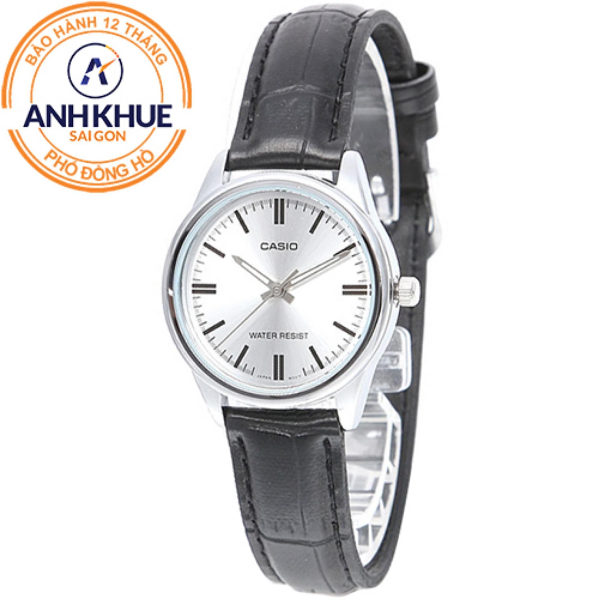 Đồng hồ nữ dây da Casio Anh Khuê LTP-V005L-7AUDF