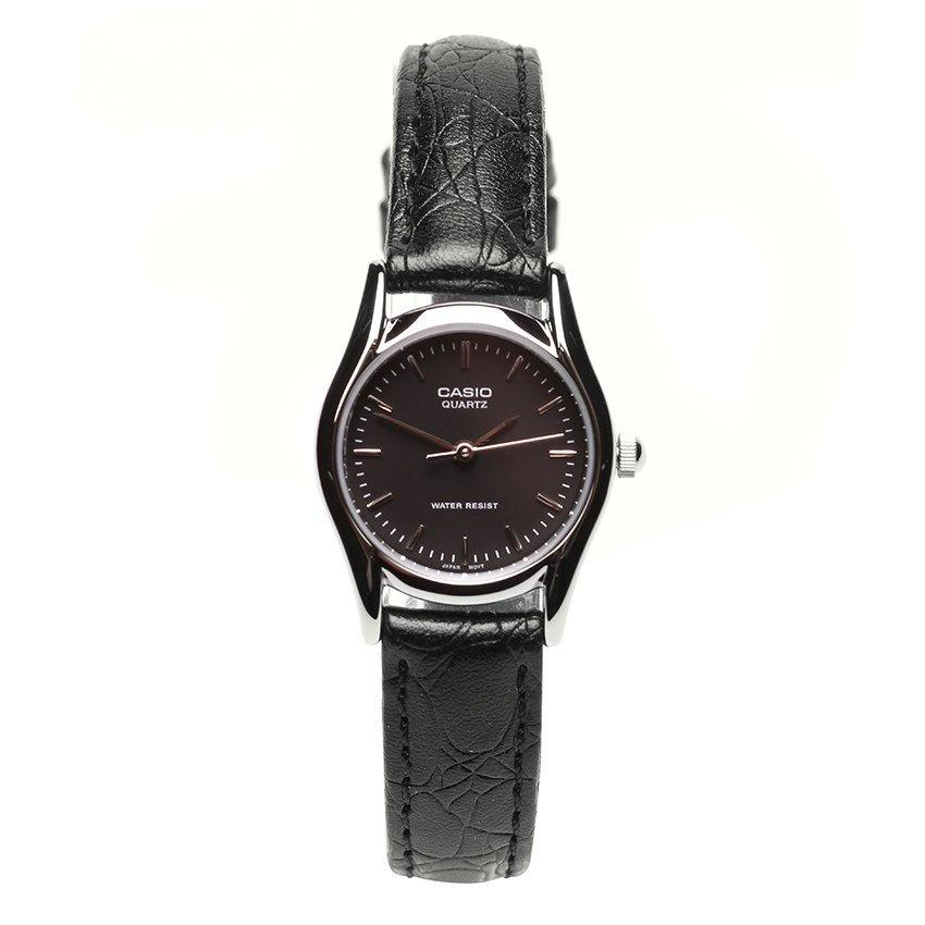 Đồng hồ nữ dây da Casio LTP-1094E-1ARDF (Đen)