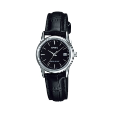 Đồng hồ nữ dây da Casio LTP-V002L-1AUDf (Đen)