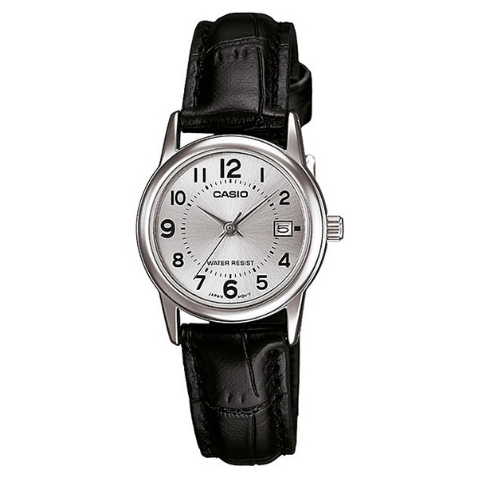 Đồng hồ nữ dây da Đồng hồ analog Casio LTP-V002L-7BUDF (Đen)