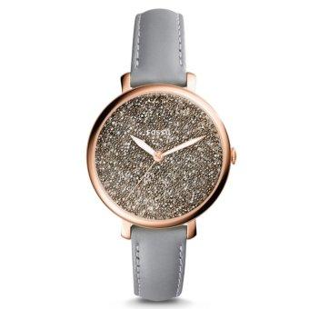 Cách mua Đồng hồ nữ dây da Fossil ES4096 (Xám phối đen)