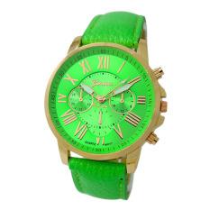 Đồng hồ nữ dây da Geneva 6170G (Xanh lá)