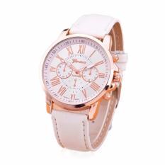 Đồng hồ nữ 3H Fashion dây da Geneva cá tính (Trắng)