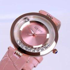 Đồng hồ nữ dây da Guou 1155 (hồng)