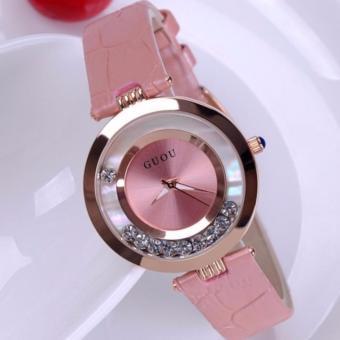 Chỗ bán Đồng hồ nữ dây da Guou G2017 màu hồng
