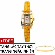 Đồng Hồ Nữ Dây Da Julius Hàn Quốc 1026tsgju (Vàng Cam) + Tặng Lắc Tay Thời Trang 038tsgvt