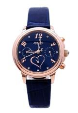 Đồng hồ nữ dây da JULIUS PJU1016 (xanh đen)
