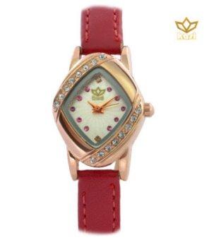 Đồng hồ nữ dây da Kavia (Đỏ).