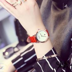 Đồng hồ nữ dây da kim trơn GUOU sang trọng TP-8027