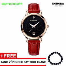 Đồng hồ nữ dây da Sanda 1001 có lịch ngày