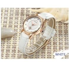 Đồng hồ nữ dây da Sanda 198 lịch ngày sang trọng (Full White)