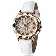 Đồng hồ nữ dây da SANDA JAPAN SA211 hoa xoay 360 độc đáo – Dây trắng