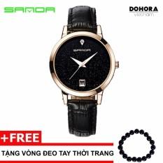 Đồng hồ nữ dây da Sanda TI1001 có lịch ngày