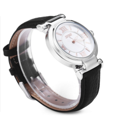 Đồng hồ nữ dây da SK21104-15NU (Đen)