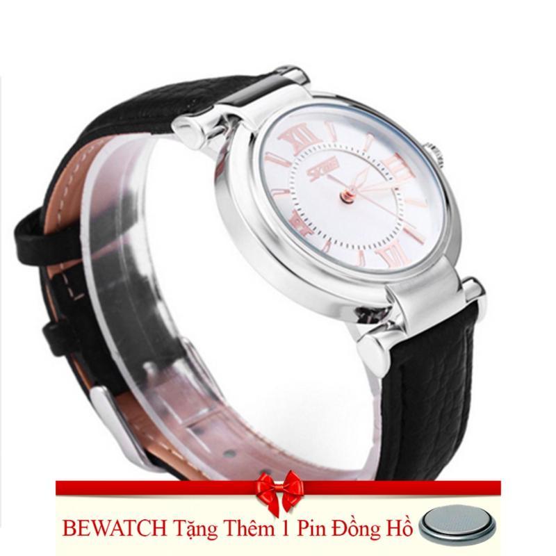 Nơi bán Đồng hồ nữ dây da SK21104-15NU (Đen)Tặng Kèm 01 Viên Pin