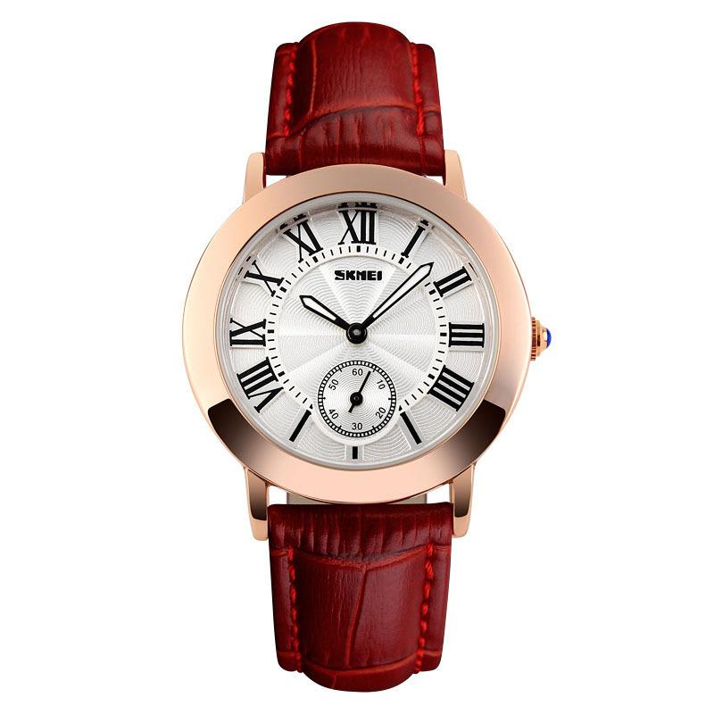 Nơi bán Đồng hồ nữ dây da Skmei 1083 (Dây đỏ)