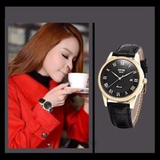Đồng hồ nữ dây da Skmei 9058 mặt đen