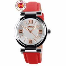 Đồng hồ nữ dây da Skmei 9075 (Đỏ)