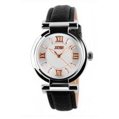 Đồng hồ nữ dây da Skmei 9075 (Đen)