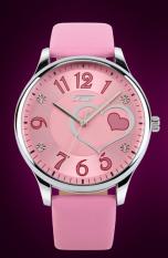 Đồng hồ nữ dây da SKMEI 9085 (Hồng nhạt)