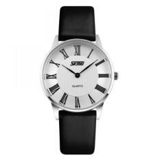Đồng hồ nữ dây da Skmei 9092 (Đen mặt trắng)