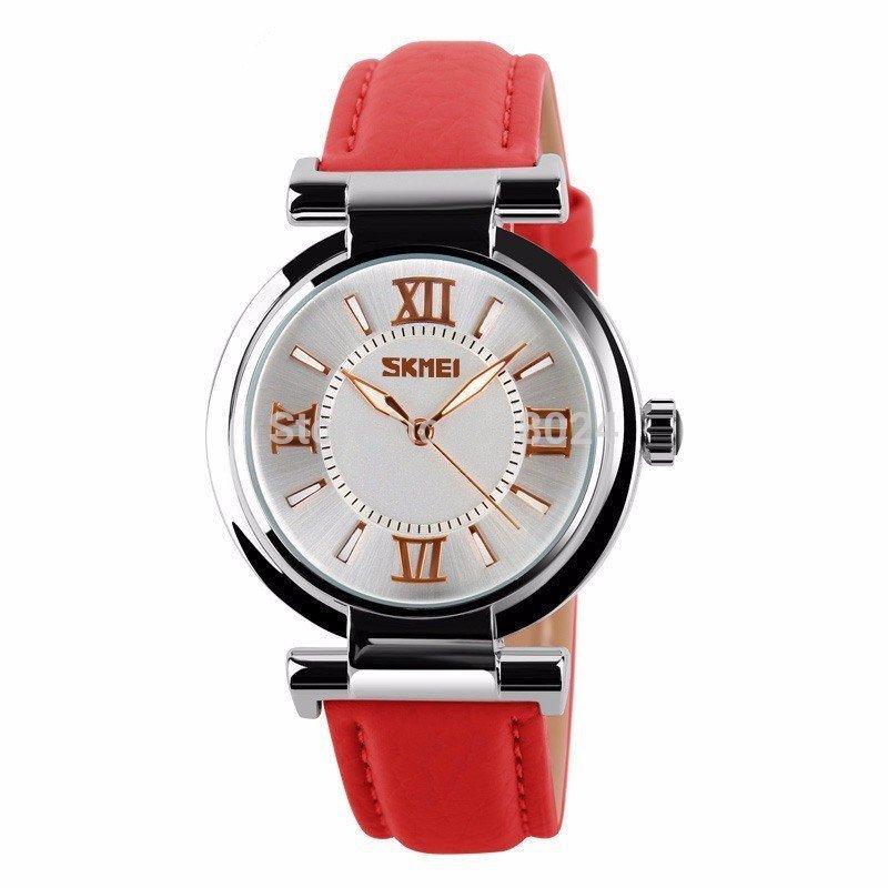 Nơi bán Đồng hồ nữ dây da SKMEI chính hãng DHN9075X (Dây xanh)