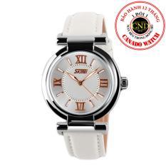 Đồng hồ nữ dây da Skmei SKE 9075 (Trắng)