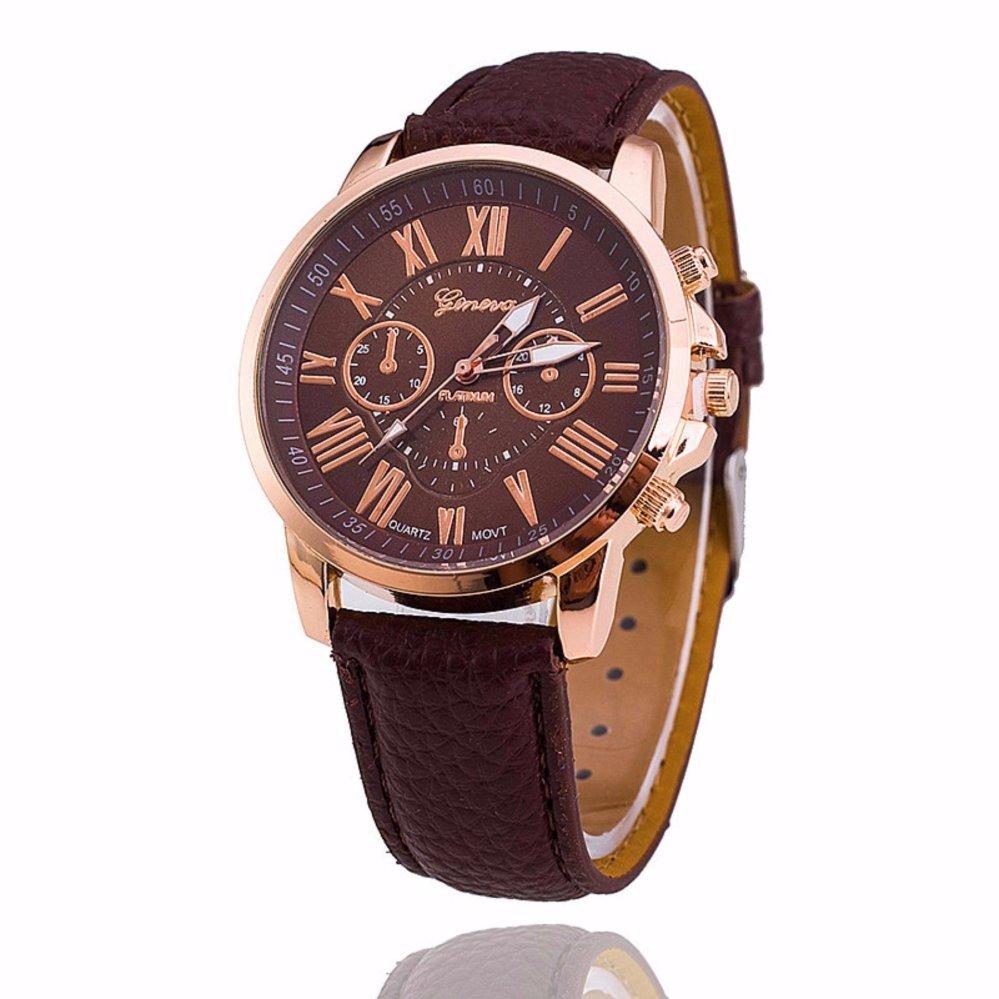 Đồng hồ nữ dây da tổng hợp Geneva GE003-11