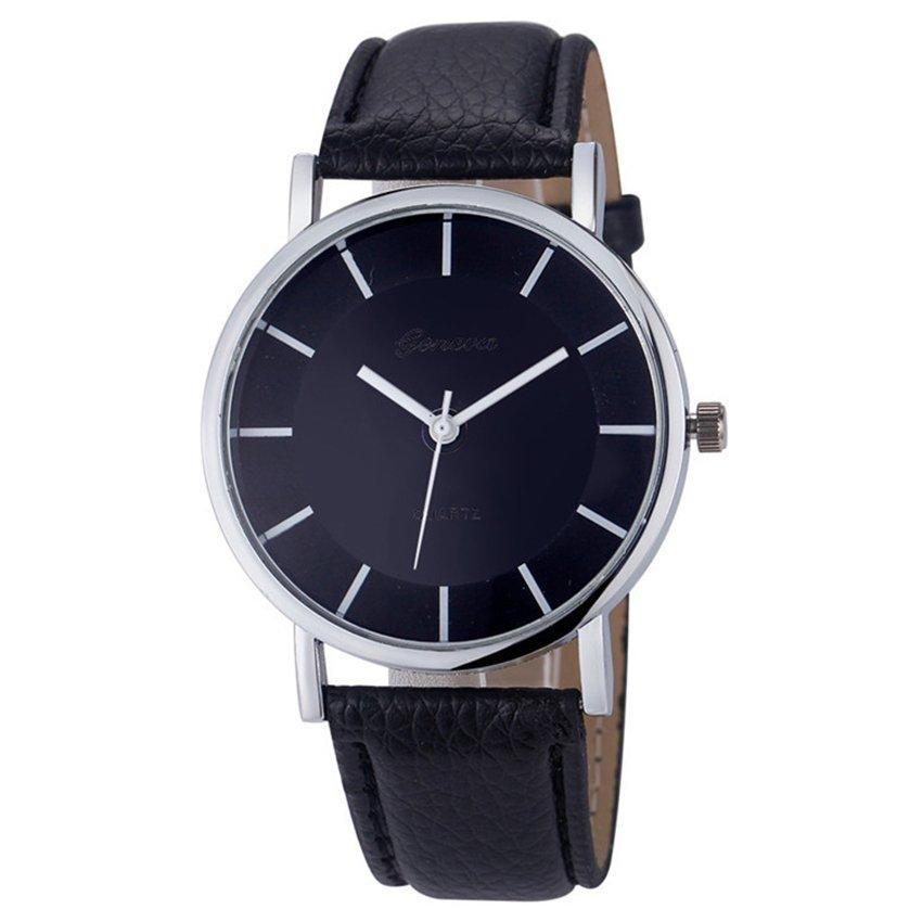Đồng hồ nữ dây da tổng hợp Geneva GE014-1 (Đen)