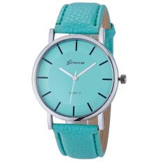 Đồng hồ nữ dây da tổng hợp Geneva GE014-2 (Xanh ngọc)