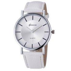 Đồng hồ nữ dây da tổng hợp Geneva GE014-5 (Trắng)