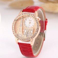 Đồng hồ nữ dây da tổng hợp Geneva PKHRGE041-2 (đỏ)