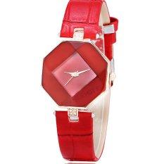 Đồng hồ nữ dây da tổng hợp Geneva PKHRGE043-2 (đỏ)