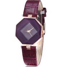 Đồng hồ nữ dây da tổng hợp Geneva PKHRGE043-5 (tím)